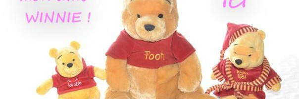 boutique doudou winnie l'ourson